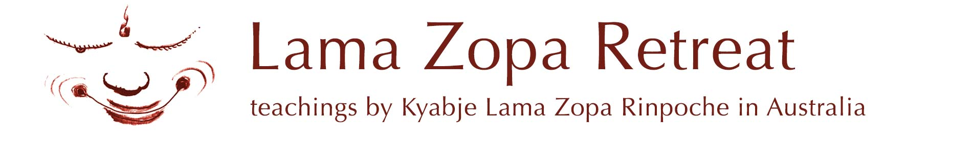 Lama Zopa Retreat @ Atisha Centre Logo